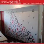 Allestimento interno con stampa su PVC adesivo Wall applicato direttamente a parete.