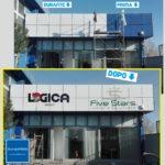 Copertura facciata in alluminio con PVC adesivo alta qualità.