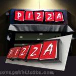 Insegna a lettere singole scatolate con impianto interno a LED.