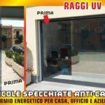 Pellicole a specchio Anti Calore, ideali per abbattere l'assorbimento di raggi UV fino al 75%.specchiate abbattimento raggi UV