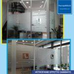 Le pellicole ad effetto sabbiato; ideali per interni ed esterni di attività commerciali, uffici ed abitazioni.
