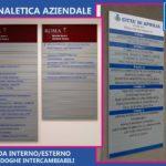 Elegante Segnaletica Modulare a doghe intercambiabili, da Interno ed Esterno.